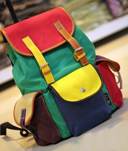 45669f4b6e45 Unique Colourful Canvas Backpack Bag on Luulla